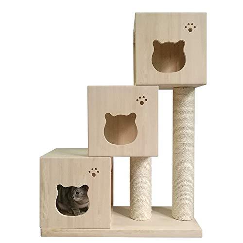 Kat huis huisdier huis kat boom krabben spelletjes klimmen bank platform krabben meubels huis activiteit centrum speelgoed huisdier houten hut