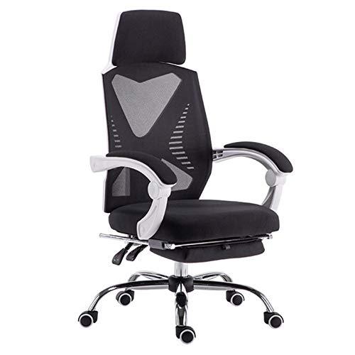 Birostuhl Ergonomisch Office Chair Drehstuhl Liegestuhl Bürostuhl Mit Rückenlehne Bürostuhl Mit Fußstütze, Für Zuhause, Büro,Weiß