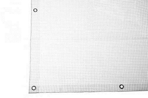 Telo bianco occhiellato antivento antistrappo polietilene anti uv 4x5 mt