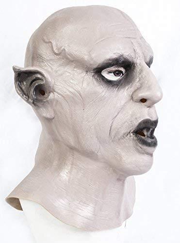 The Rubber Plantation TM 619219294270 Nosferatu Vampire Mask Halloween Fancy Dress Dracula Classic Horror Disfraz Accesorio, Unisex Adulto, Talla nica