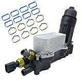 Engine Oil Cooler and Filter Housing Adapter Kit 68105583AF 68105583AE Replacement for Chrysler Dodge 3.6L V6 Vehicles 200 Town & Country Grand Caravan Wrangler Ram