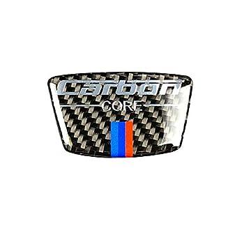 Carbon Fiber Steering Wheel Sticker M Stripe Emblem 3D Car Sticker Compatible with BMW e46 e39 e60 e90 f30 f34 f10 1 2 3 5 7 Series x1 x3 x5 x6