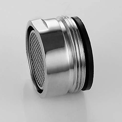 Wasserhahn Filtereinsatz, Wasserhahn-Luftsprudler Mischdüse Luftsprudler Silber für Küche/Bad 28mm Außengewinde (1 Stück)