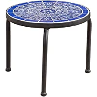Christopher Knight Home Slate Outdoor Ceramic Tile Side Table