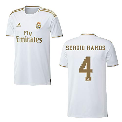 adidas REAL Madrid Trikot Home Herren 2020 - Sergio Ramos 4, Größe:S
