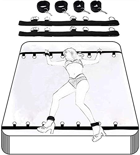 Adult Toys Couple Ladies Backhand Bondâge Toys Stärtêr Sët B.d.šṃ Rẹsṭrạiṇt Sẹt, Collâr Hândcuff Chain SlĂVe Ropë Bondâge Whïp for Sëx Accessories Role Play Cosplay Yoga