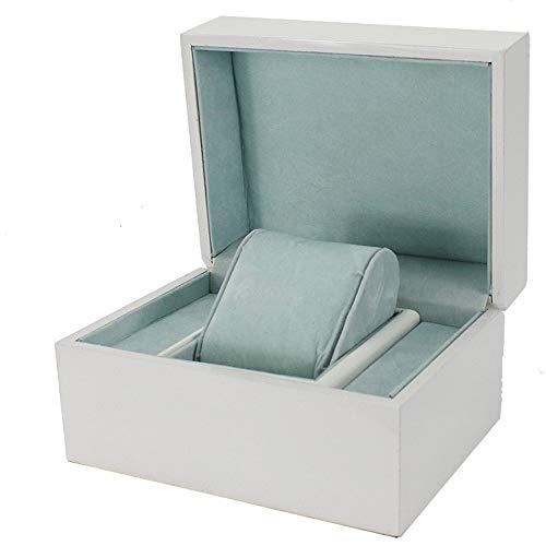 MAATCHH Cajas de reloj de alta gama para joyas, anillo de joyería, caja de regalo de goma Embryo caja de joyería simple y elegante (color: blanco, tamaño: S)