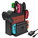 <span class='highlight'><span class='highlight'>FASTSNAIL</span></span> Charging Dock for Nintendo Switch, Charger for Switch Joy-Cons, Pro Controllers or Poke Ball Plus, Multifunctional Rack Storage Stand Kit for Nintendo Switch and Other Accessories
