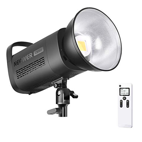 Neewer Luce LED 150W 5600K Dimmerabile con Attacco Bowens, Illuminazione Continua Equilibrata Diurna CRI97+ 12000LM con 2,4G Wireless Telecomando, per Studio Video Illuminazione YouTube Fotografia