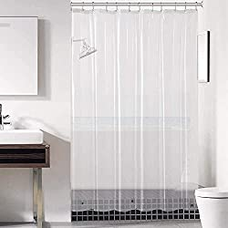 commercial Transparent back for downlux shower curtains 72 x 72 – PEVA 3 gauge light, waterproof, odorless … shower curtain liners