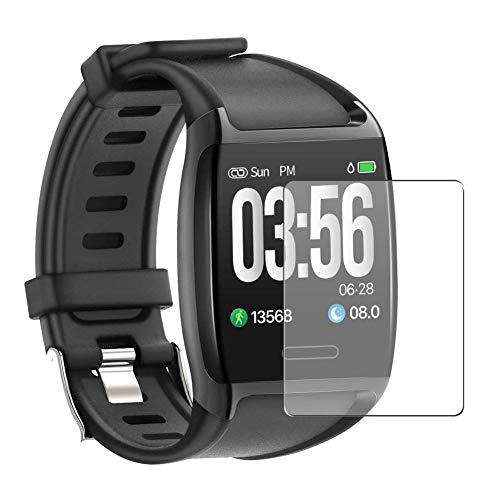Vaxson 3 Unidades Protector de Pantalla, compatible con JPDEAL V8 Smartwatch Smart Watch 1.3' [No Vidrio Templado] TPU Película Protectora