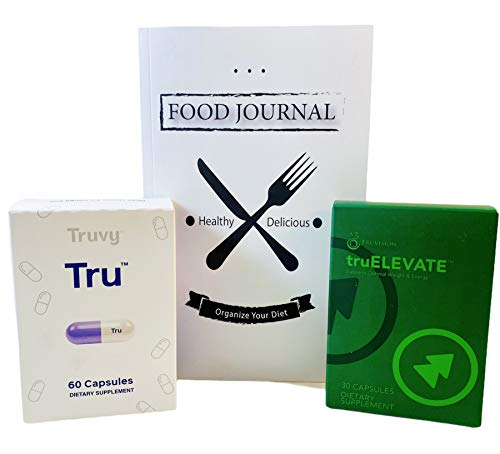 Truvision Health Weight Loss Supplements Trufix (60 Pills) and Truelevate (30 Pills) (90 Capsules Total) Weight Management Products Bundle with a Physical Food Journal