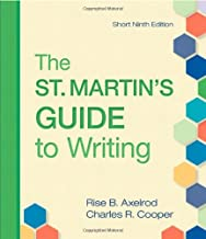 The St. Martin's Guide to Writing: Short Edition