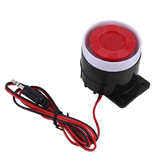 ZYCX123 Wired Mini Sirena de Hornos 12V Sonido de Advertencia del Ministerio del Interior Tienda Garaje de Seguridad del Sistema de Alarma de Vacaciones de GFT