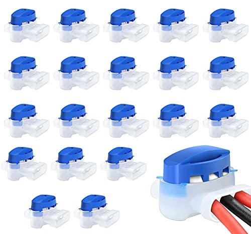 Conectores de cable, 20 pcs Conector de Cable con Gel, Conector de Cable para Robot, Juego de Conectores de Cable para Cortacesped Robot para Jardín de Cortacésped Robótico para Exteriores