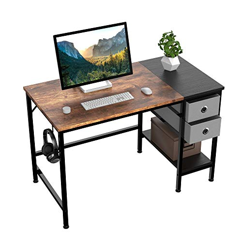 Office Desk Computer Desk with Drawers 40quot Study Writing Desks for Home with Storage Shelves Desks amp Workstations for Home Office Bedroom