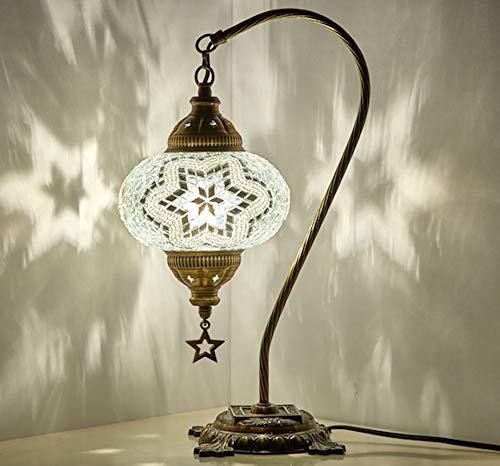 BOSPHORUS Impresionante lámpara de mesita de noche hecha a mano con cuello...