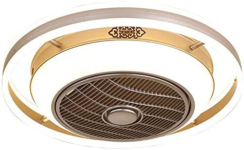 LED Negativo Ion Ventilado Luz Moderno Restaurante Formador de techo Luz Sala de estar Luz Invisible Techo Dormitorio Ventilador Ventilador de techo para sala de estar Dormitorio (Color : 60cm)