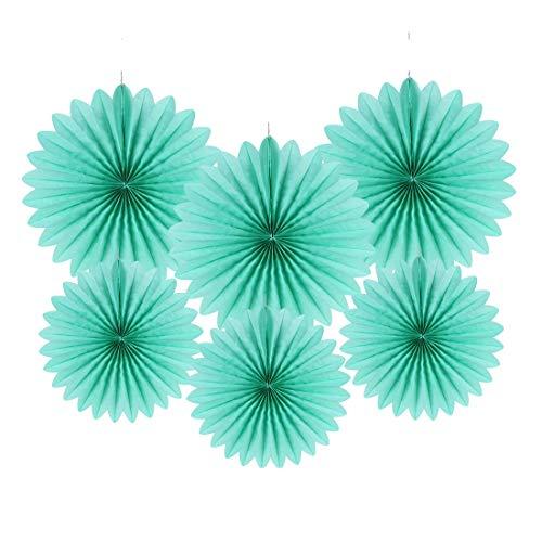 Easy Joy Rosace Papier Menthe Decoration 12pcs Rosaces en Papier de Soie Deco pour Maison, Chambre, Anniversaire, Mariage, Fête - 6pcs 25cm, 6pcs 35cm