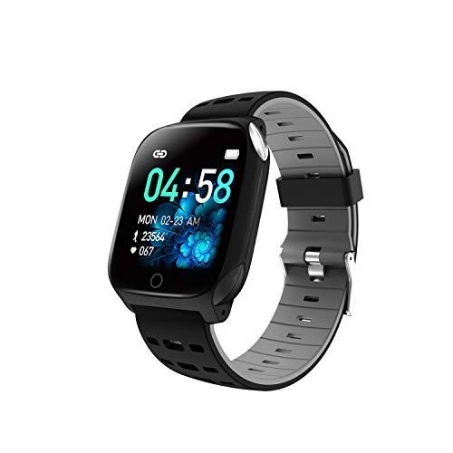 Haude Orologio sportivo impermeabile per pressione sanguigna, frequenza cardiaca, sonno, monitoraggio della salute, funzione intelligente multifunzione (grigio)