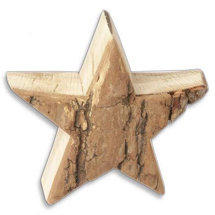 HOFMEISTER® Stern mit Rinde aus Holz 13,5 cm