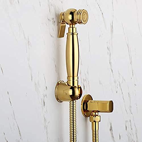 Bidet Shattaf Handtoilette Bidet Sprayer Hochdruckduschset WC Jet Selbstreinigender Duschkopf aus Gold für Badezimmer Gold A @ Gold A