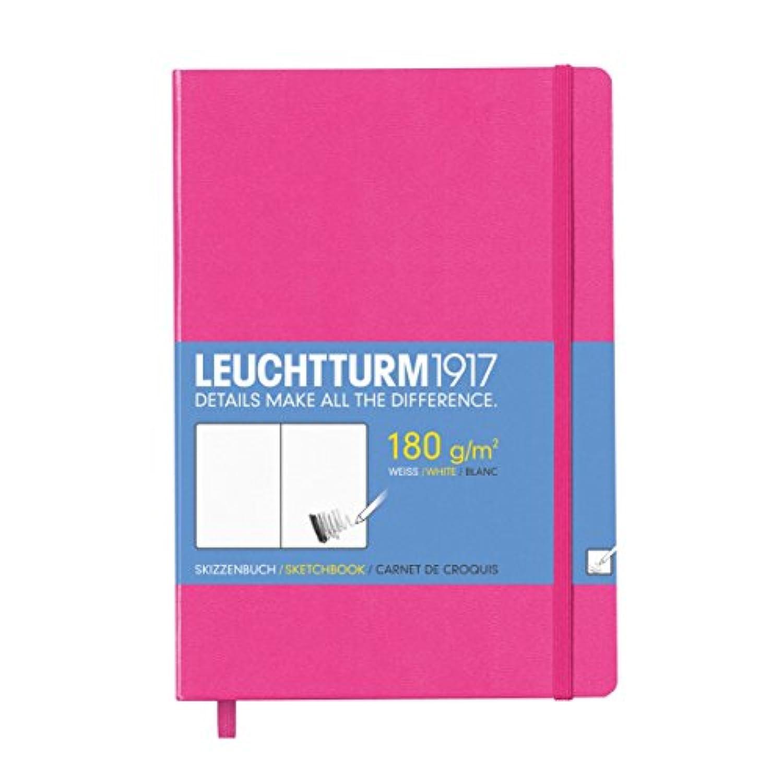 Leuchtturm1917?344997?Medium Sketch Book, Hardback, A5, Pure White, 96?Pages New Pink