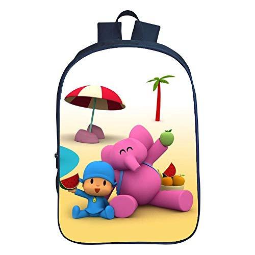 Backpack Escuela De Niños Mochila 3D Animado Pocoyó Impreso Bolsas De Libros para Niños De 6-12 10