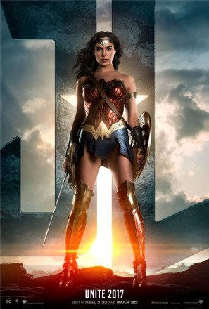 Import Posters Justice League – Wonder Woman – US Movie Wall Poster Print - 30CM X 43CM