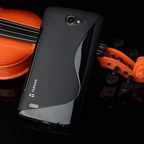 Tarkan Authentic S Line Slim Soft Transclucent TPU Designer Back Case Cover for LG Bello 2 (Black)