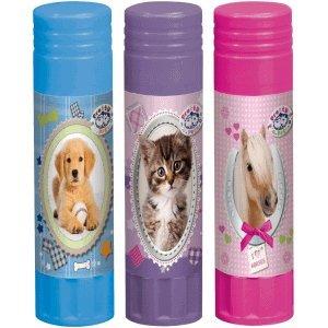 Herlitz 20 x Klebestift 21g lösungsmittelfrei Pretty Pets