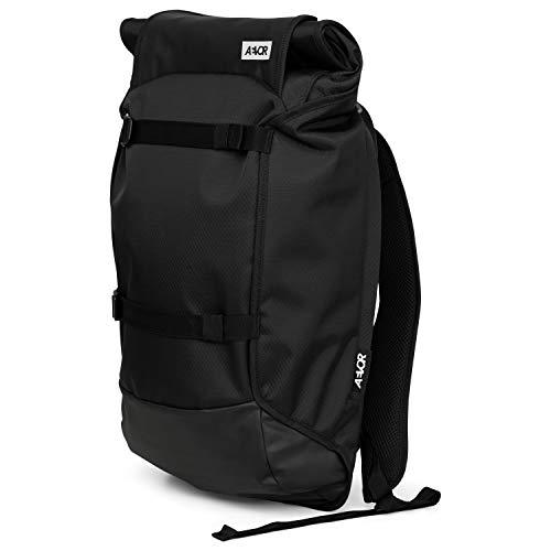 AEVOR Trip Pack - wasserfester Rucksack, erweiterbar, ergonomisch, Laptopfach - Proof Black - Black