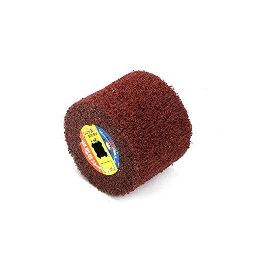 1 pieza de rueda de pulido de dibujo de alambre no tejido, almohadilla agria de nailon, cepillo abrasivo con solapa, 120x100mm, 40/60/80/120/180/240/320/400/600, 40Grit