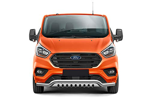 Barra de protección frontal con parrilla inferior, apta para Ford Transit Custom a partir...