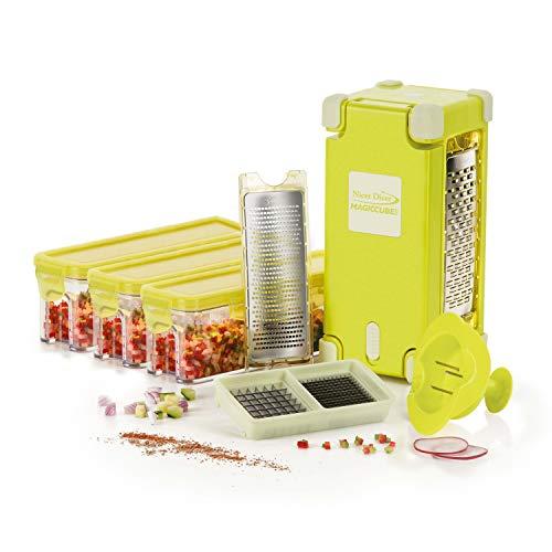 Genius Nicer Dicer Magic Cube Gourmet 12 Teile | Obst- und Gemüseschneider in feinster Qualität