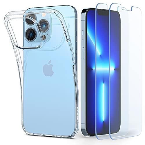 Spigen Crystal Pack Coque Compatible avec iPhone 13 Pro, 2 V