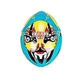 Casco Máscara de la Ópera de Pekín, Bicicleta de Carretera de montaña Viento Roto neumático Moldeado Integrado Montar casco-1-57-62cm