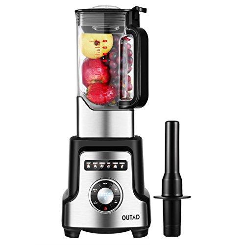 Professionelles Obst/Gemüse Standmixer, OUTAD Smoothie-Mixer Mix mit 32000-50000 RPM, 2000W, 6 Klingen Edelstahlmesser 2 Liter für Smoothies, Suppe, Saucen, Obst-Crushed Ice