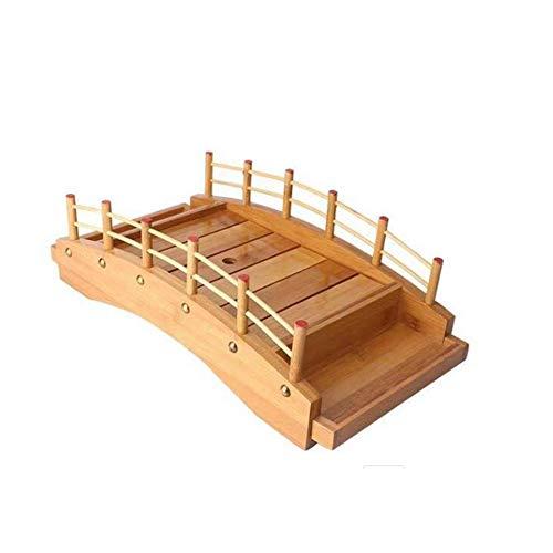 Siunwdiy Ristorante O Arco Casa Ponte Contenitore Sashimi Sushi Barca Barca di Sushi in Legno Ponte Ad Arco Vassoio Piatto di Sushi Sashimi Contenitore Sushi,Marrone,c