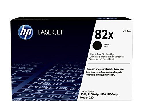 HP 82X (C4182X) Schwarz Original Toner mit hoher Reichweite für HP Laserjet 8150, Mopier 320
