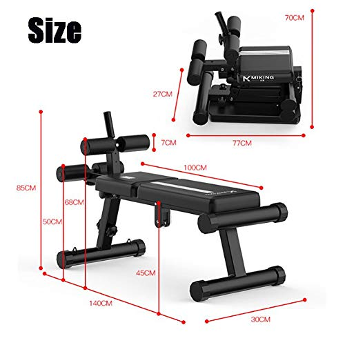 Foldable Exercise Bench,adjustable Utility Weight Bench,multifunctional Incline Decline Bench Press Chair For Home Gym Black 83*141cm