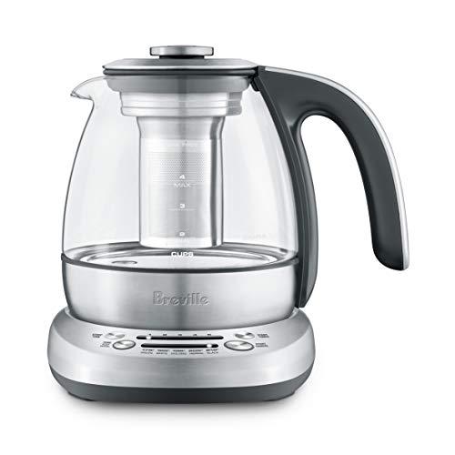 Breville BTM500CLR Smart Tea Infuser Compact Tea Maker, Brushed Stainless Steel