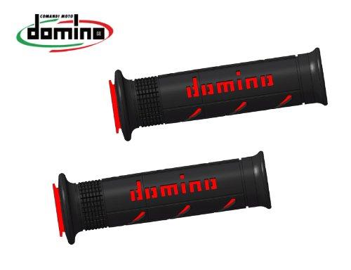 domino(ドミノ) ハンドルバーグリップ ストリートタイプ 126mm サーモプラスチックゴム ブラックXレッド A25041C4240