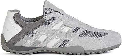 Geox Herren Uomo Snake F Sneaker, Grau (Lt Grey/Grey C1292), 44 EU