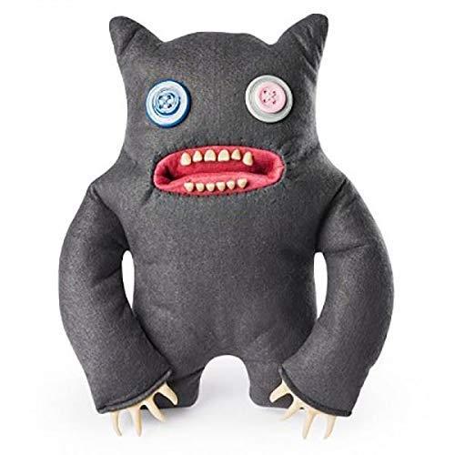 Fuggler - großer 12' lustiger hässlicher Monsterplüsch - grau mit Knopfaugen
