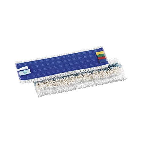 TTS Cleaning 0M000651 Tris Frangia in Microfibra/Poliestere/Cotone, Filo Continuo, 40 cm, Sistema Velcro