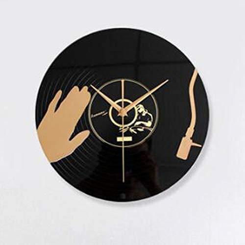 Leileixiao Vinyl-LP Wanduhr, Musik DJ Disc 3D-Stereo-CD Themenuhr Verzierungen, for Hauptwand