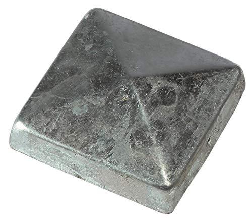 Pfostenkappe für Pfosten 9x9 cm Zaunkappe Pyramide aus Metall verzinkt
