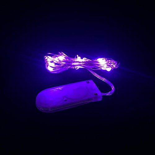 Guirlande lumineuse micro LED (violet).