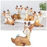 VOSAREA Rentier Figur Elch Hirsch Figur Weihnachten Tierfigur Dekofigur Weihnachtsfigur Xmas Party Deko Tischdeko Winterdeko Weihnachtsdeko (Meditinenmuster) - 4